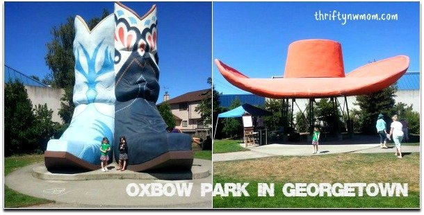 Oxbow Park in Georgetown neighborhood of Seattle