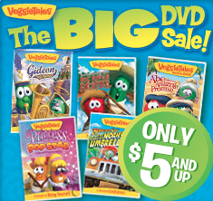 veggie tales free sitewide shipping