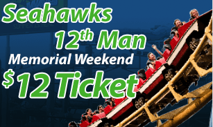 Wild Waves Coupons for Seahawks Fans – $12 Ticket for Memorial Day weekend!