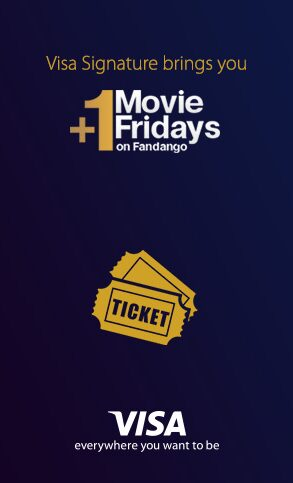 Fandango: 2 for 1 Movie Tickets for Visa Signature Cardholders on Fridays