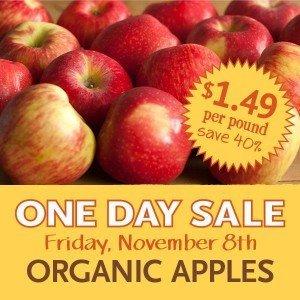 Whole Foods One Day Sale – Organic Apples $1.49 /lb! (Fri. 11/8)