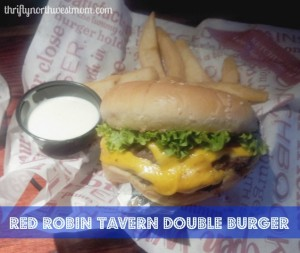 red robin tavern double burger