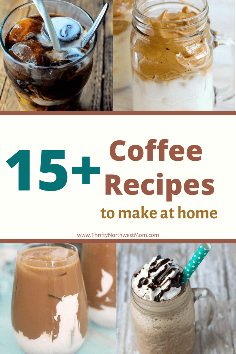 15+ Coffee Recipes – Frappes, Cold Brew, Coffee Flavored Desserts & more!