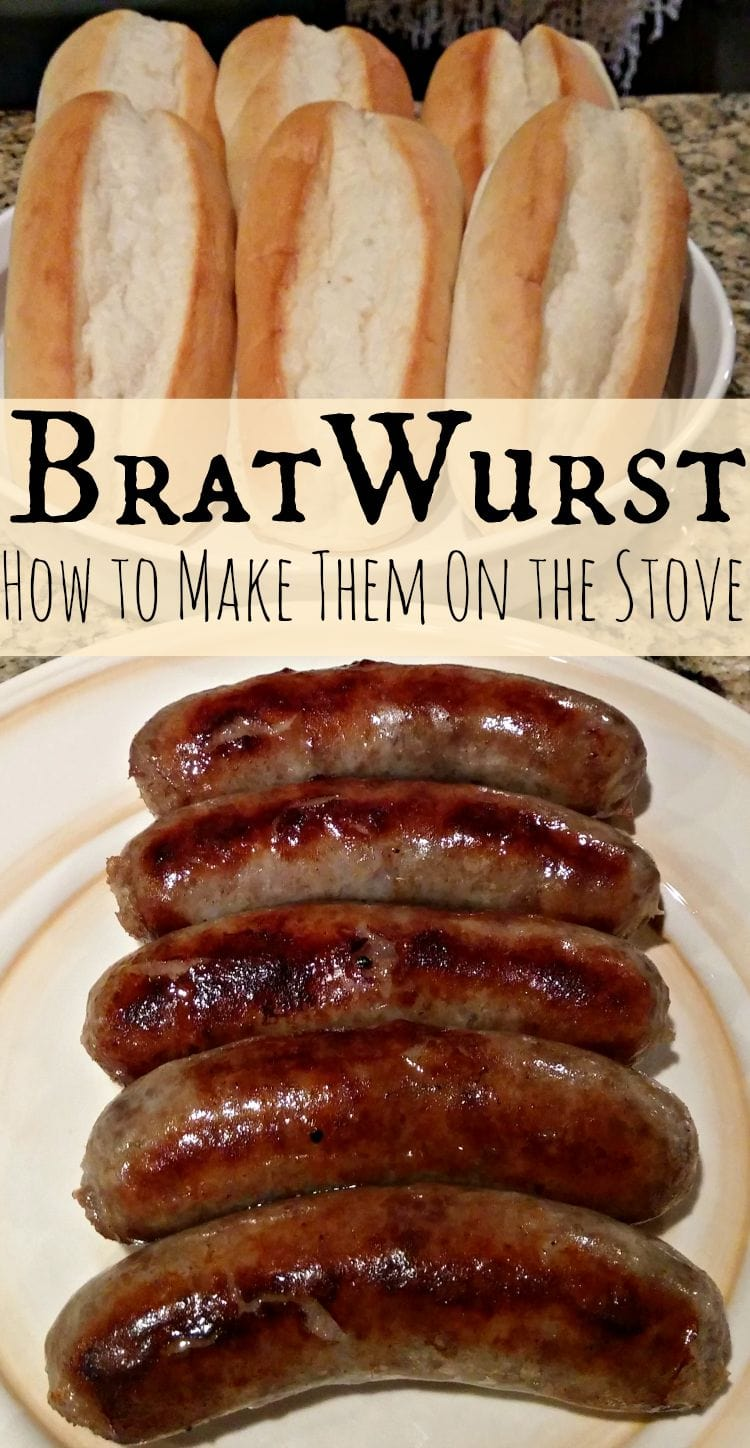 Bratwurst Recipe Cooking Brats Over The Stove Thrifty