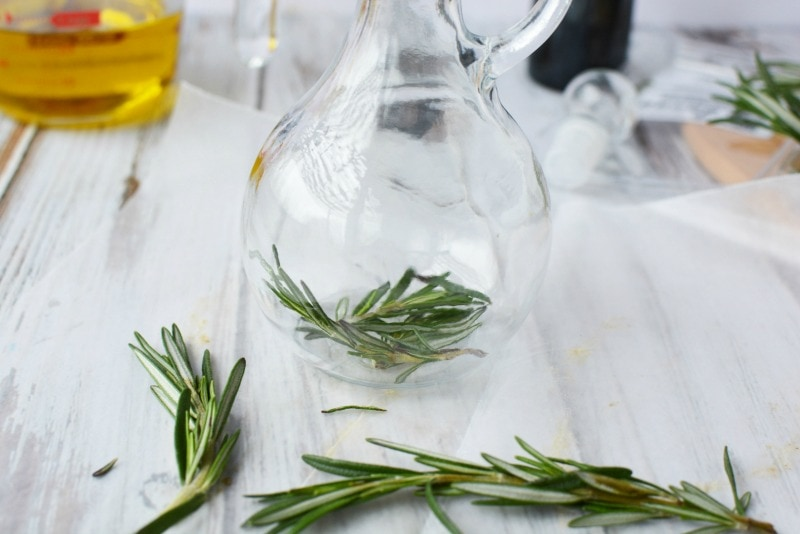 Rosemary inside the Olive Oil Cruet