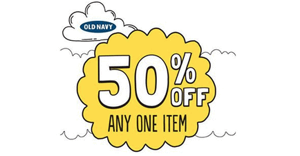 Old Navy Coupons – 50% off Entire Store