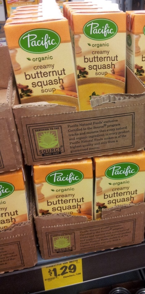 Pacific organic butternut squash soup