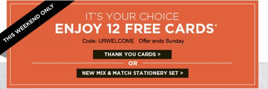 Shutterfly Free Cards – Get 12 FREE Cards – Just pay ship!