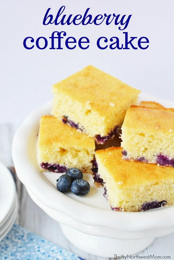 Blueberry Coffee Cake Recipe is an easy breakfast recipe to make for busy mornings