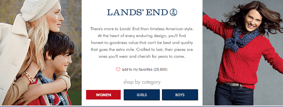 lands end sale