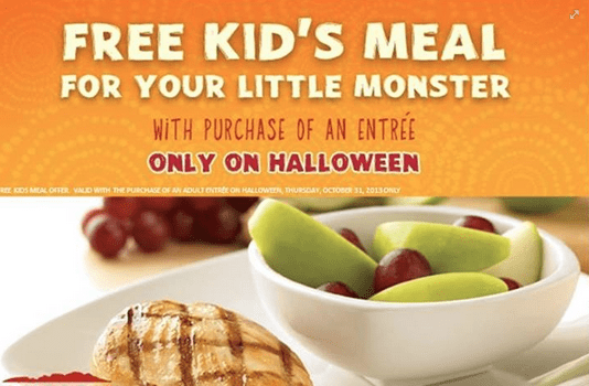 outback steakhouse kids eat free on halloween