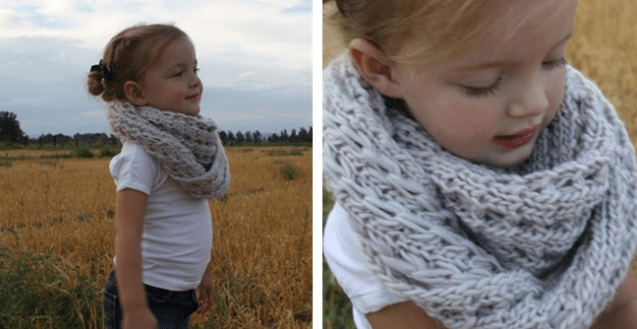 Knit Infinity Scarves for kids