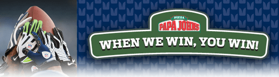 Papa Johns Seahawks Deal – 50% off Day After Seahawks Win