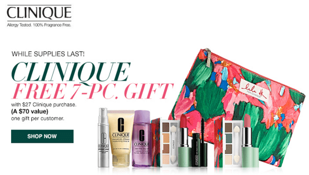 Macys : Clinique Free Gift ($70 value) With $27 Purchase