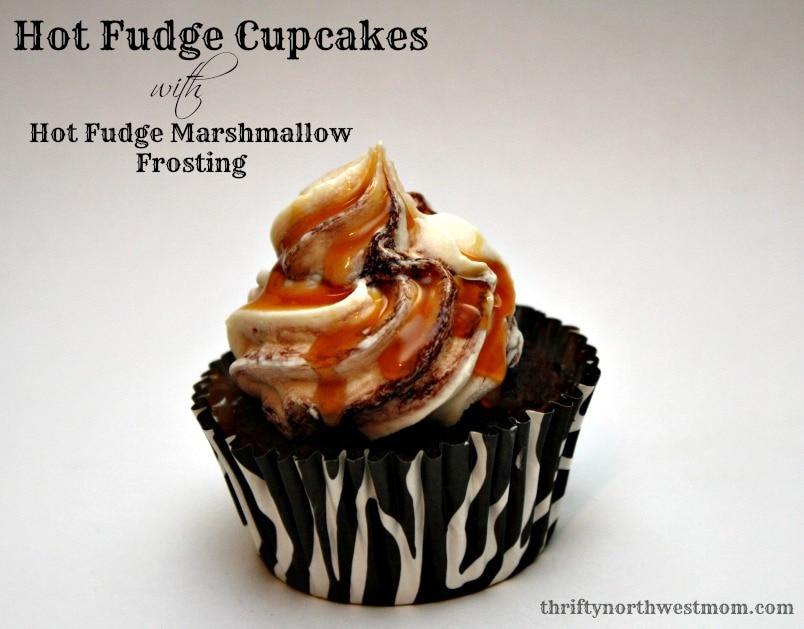 Hot Fudge Cupcakes