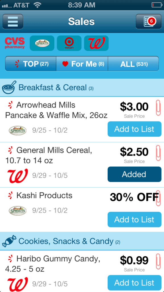 Favado Grocery Shopping App List
