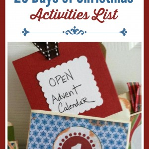 25 Days of Christmas Activities List