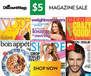 $5 Magazine Sale Today!