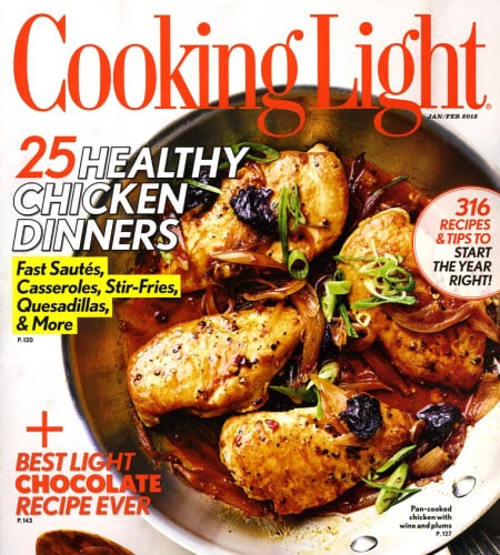 Cooking Light Magazine – As low as $7.48 for Subscription with 2 Years