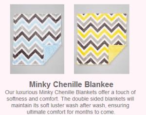 Minky chenille blankee