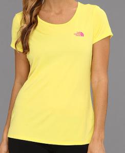 NOrth Face Yellow shirt