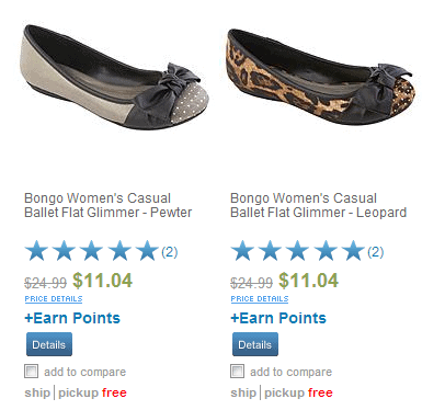 Sears.com: Shoes As Low as $1.04 when you earn 10,000 Shop Your Way Reward Points!