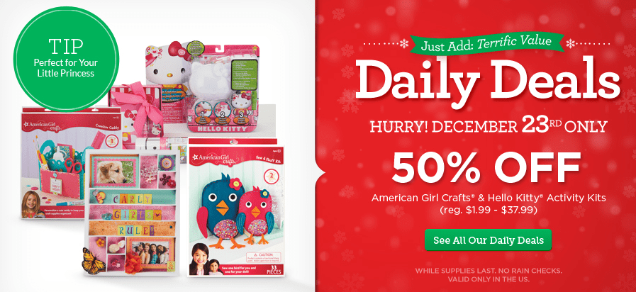 American Girl Crafts & Hello Kitty Activities at Michael's!