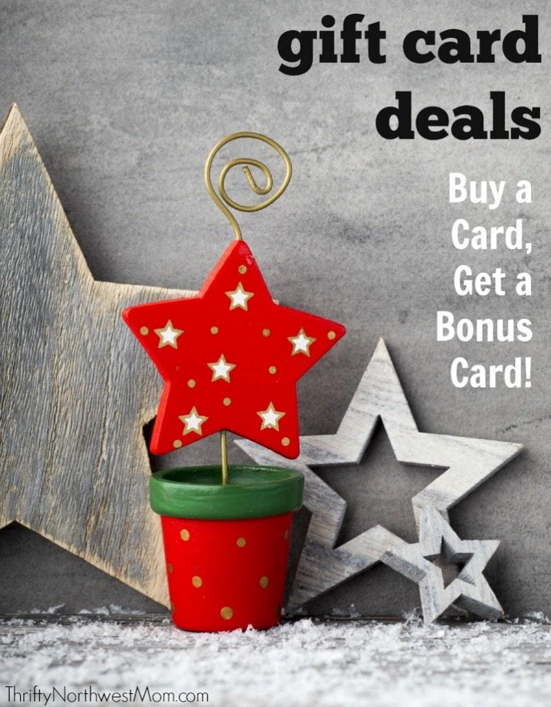 Gift Card Bonus Deals Roundup – Northwest & National Restaurants & Retail Stores!