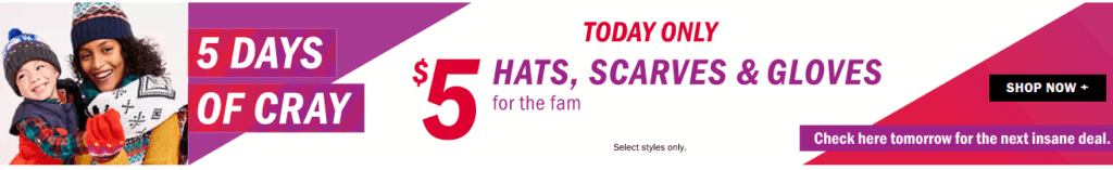 Old Navy Winter Sale: $5 Hats, Scarves, & Gloves – Today Only!