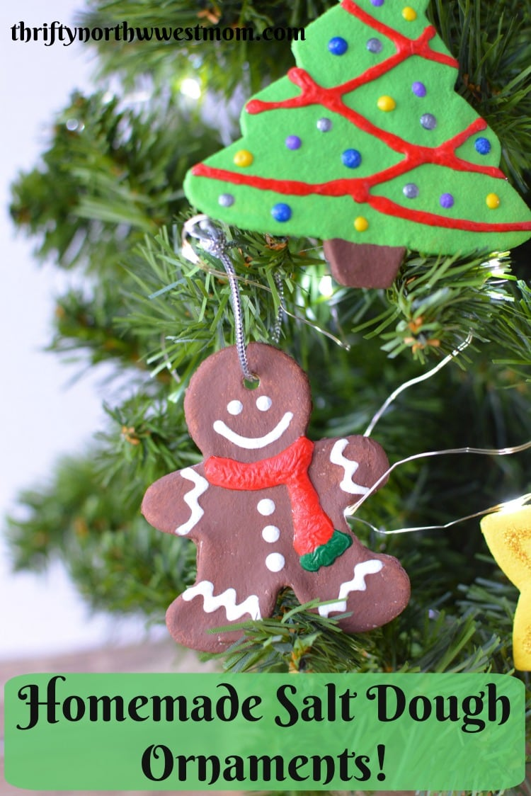 These Homemade Salt Dough Ornaments are a fun Christmas activity to do with kids and a beautiful keepsake to treasure.
