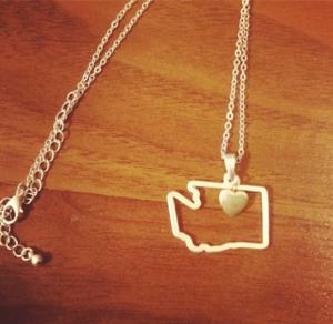 custom state pendant necklace washington