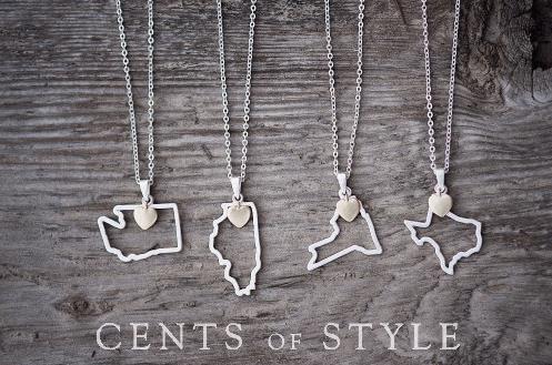 custom state pendant necklace