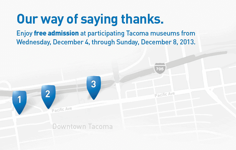 free admission to 3 tacoma museums