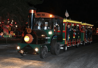 lights of christmas train