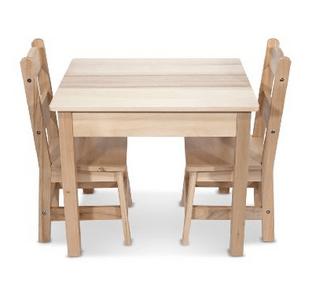 melissa doug wooden table