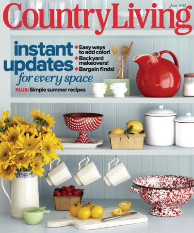 Country living magazine subscription deal recipes diy for Country living magazine recipes