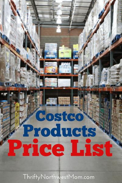 Find prices for over 1000 items with this Costco Products Price List. This will make it easy to compare to prices online & in the grocery stores.