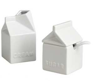 Milk Carton Sugar and Cream