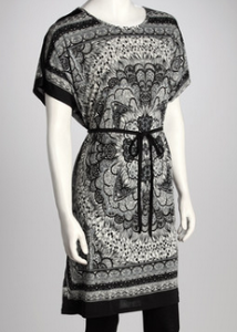 Black Floral Tunic