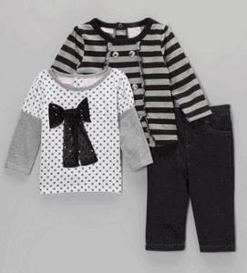 Black and Gray Jean set