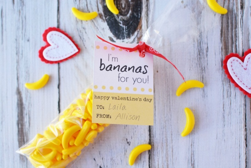 Free Printable Valentine Card - I'm Bananas for You