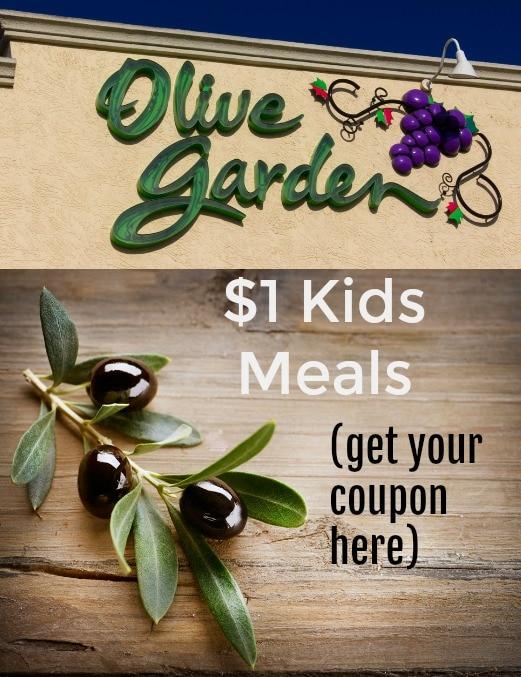 Olive Garden Kids meals $1