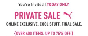 Puma Private Sale