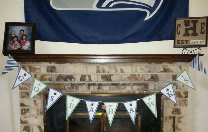 Free Seahawks Party Banner Printable