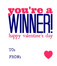 You're a Winner Free Printable Blue