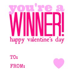 You're a Winner Free Printable Pink