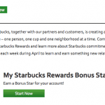 Starbucks Free Stars in April