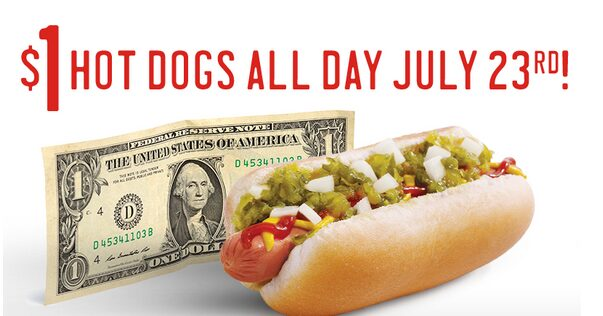 Sonic $1 Hot Dogs