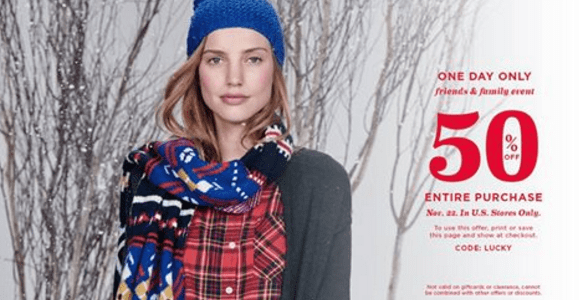 Old navy Coupons 50% off Entire Store