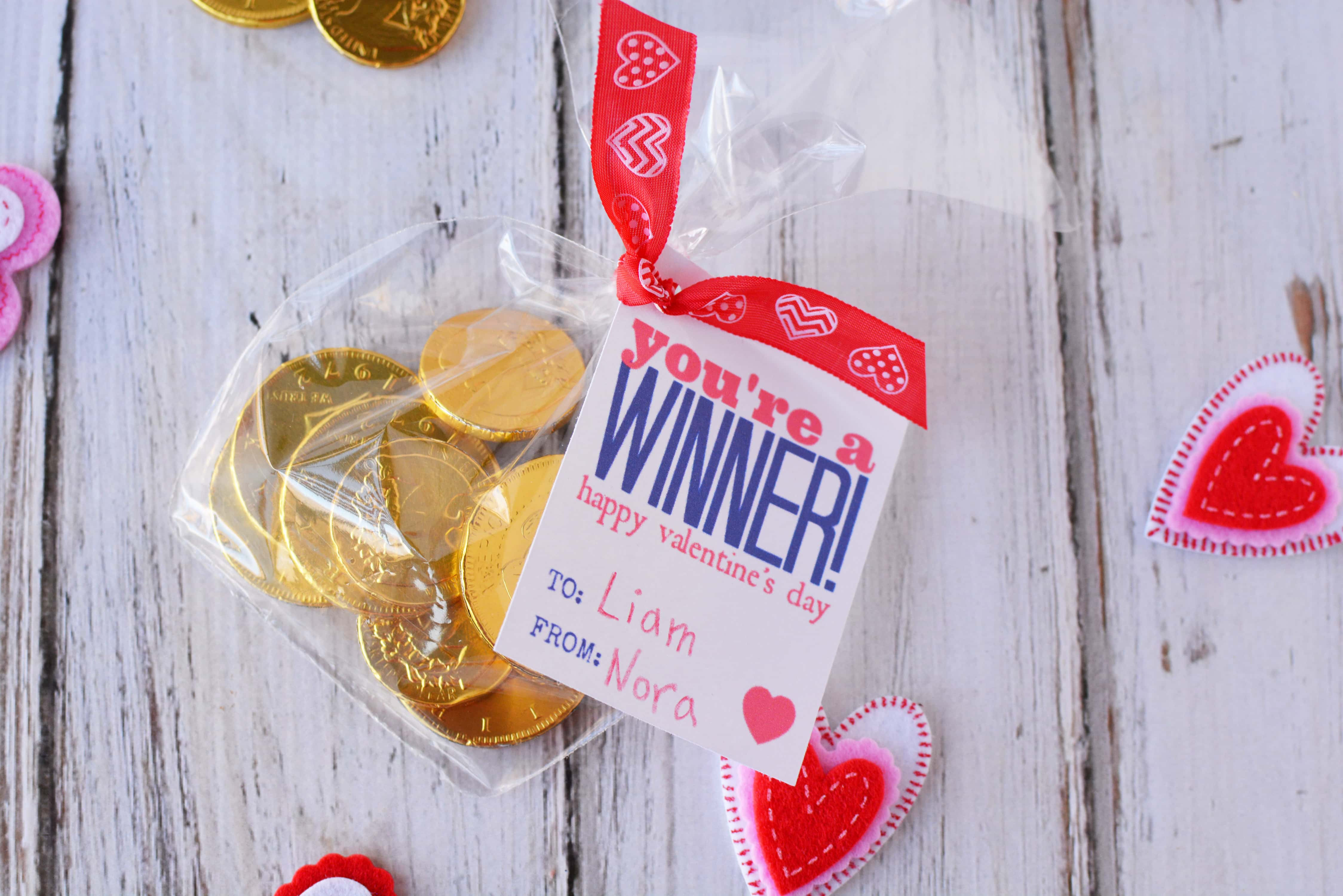 Free Printable Valentine Cards Youre A Winner For Kids Or